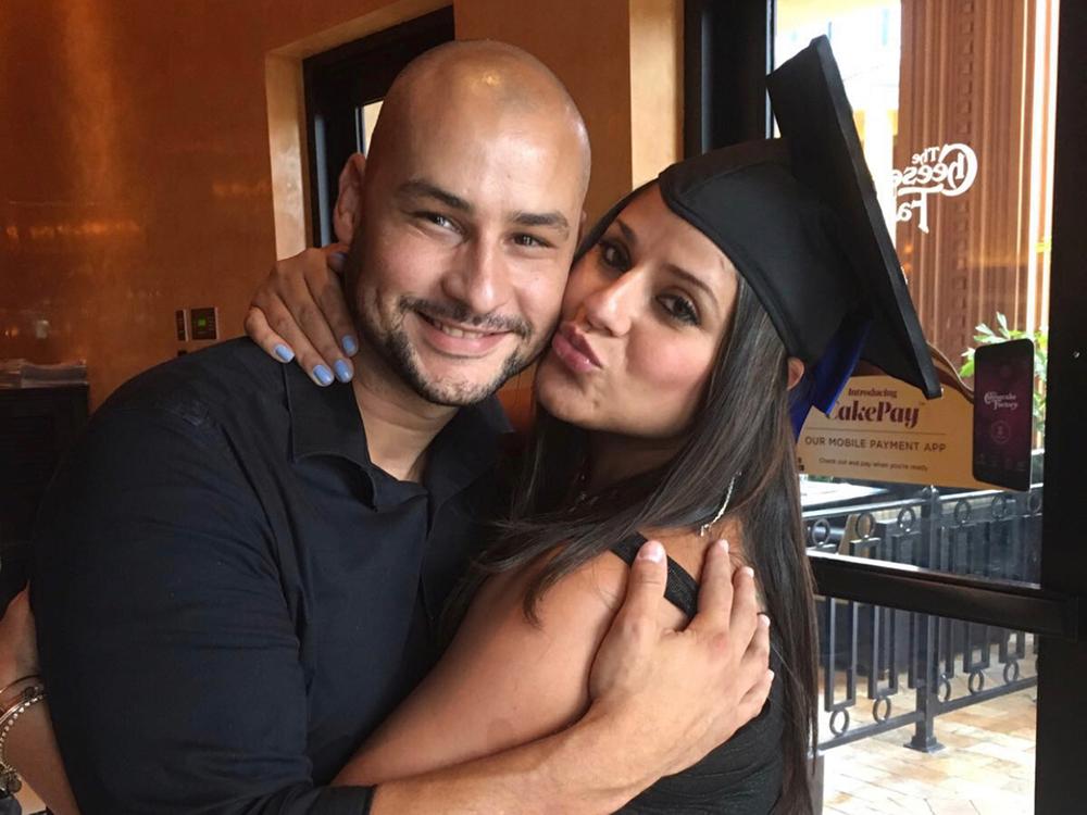 Maria Cuadra and husband
