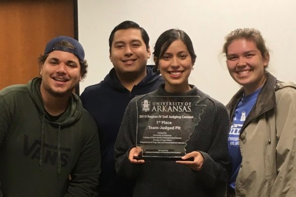 Agroecology student wins first place in Regional Soil Judging Competition
