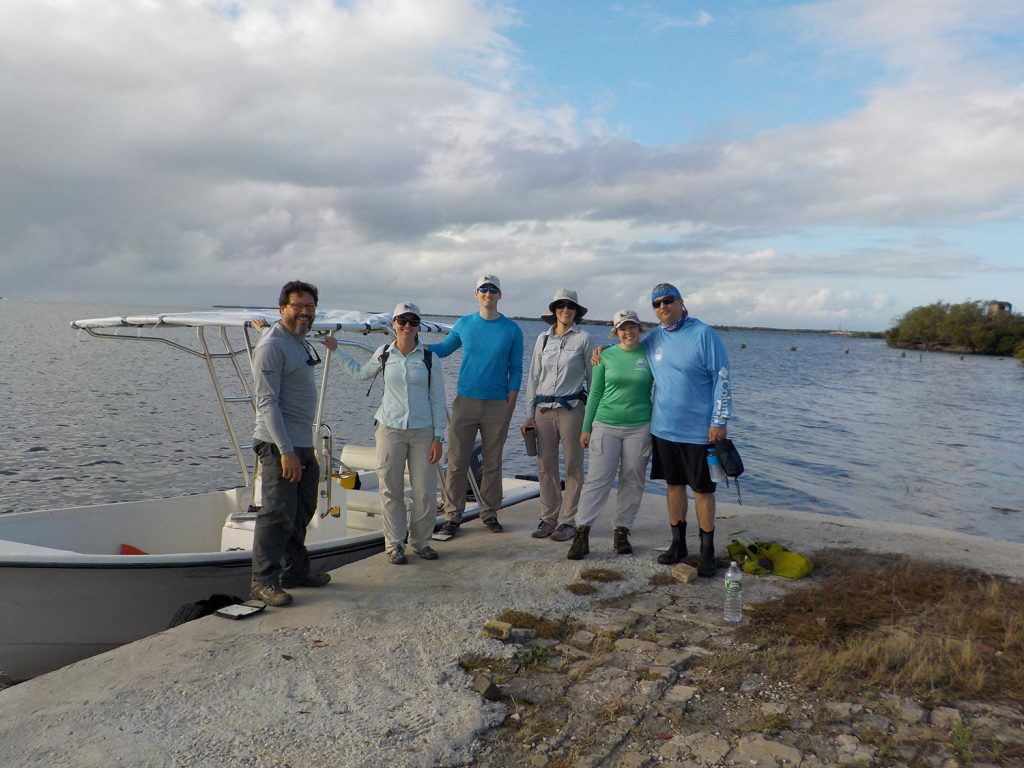 Danielle Ogurcak and Jobos Bay with a group