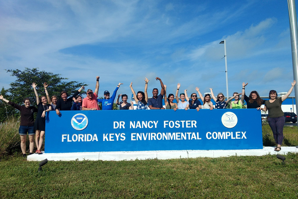 2019 Dr. Nancy Foster Scholars at the Dr. Nancy Foster Florida Keys Environmental Complex.