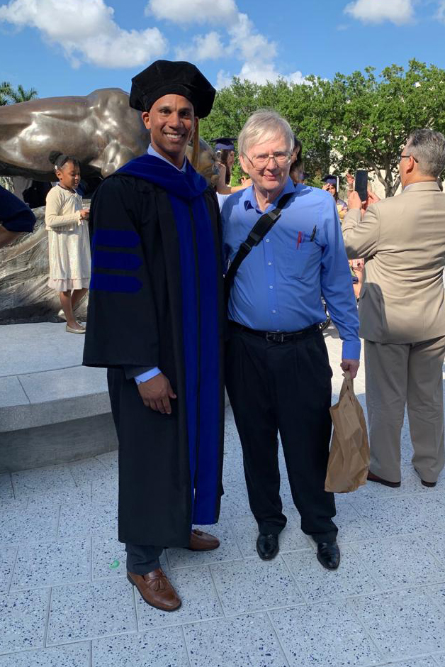 Mckenzie-Coe with mentor Dr. James Quirke