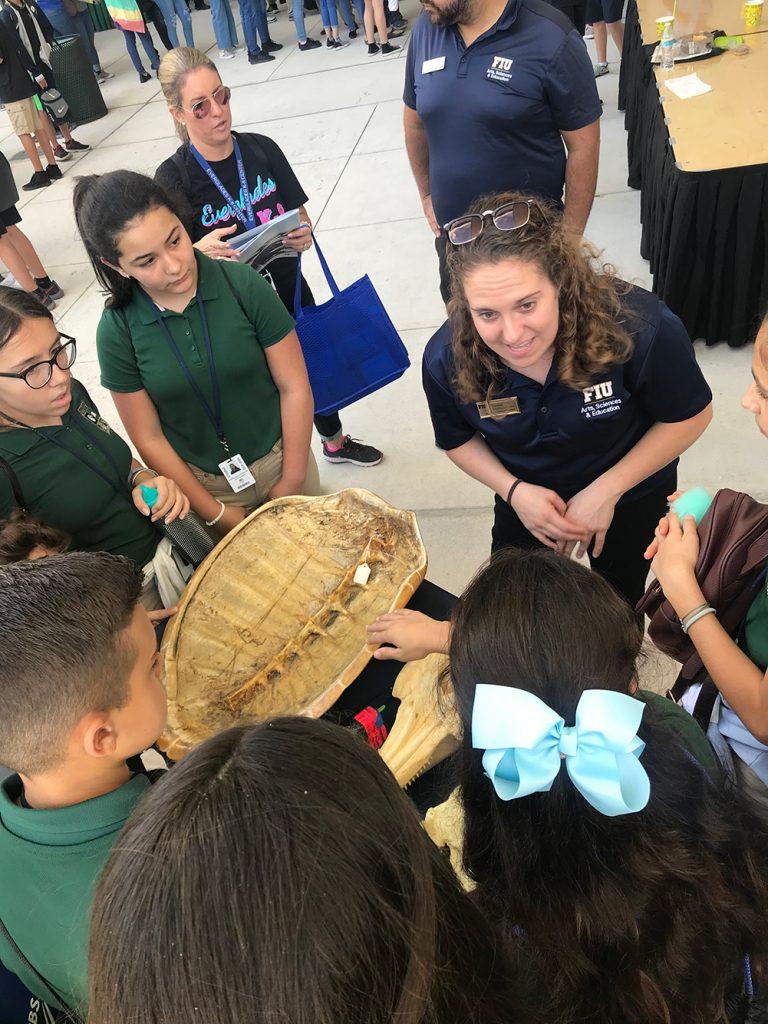 Kourtney showing turtle shells