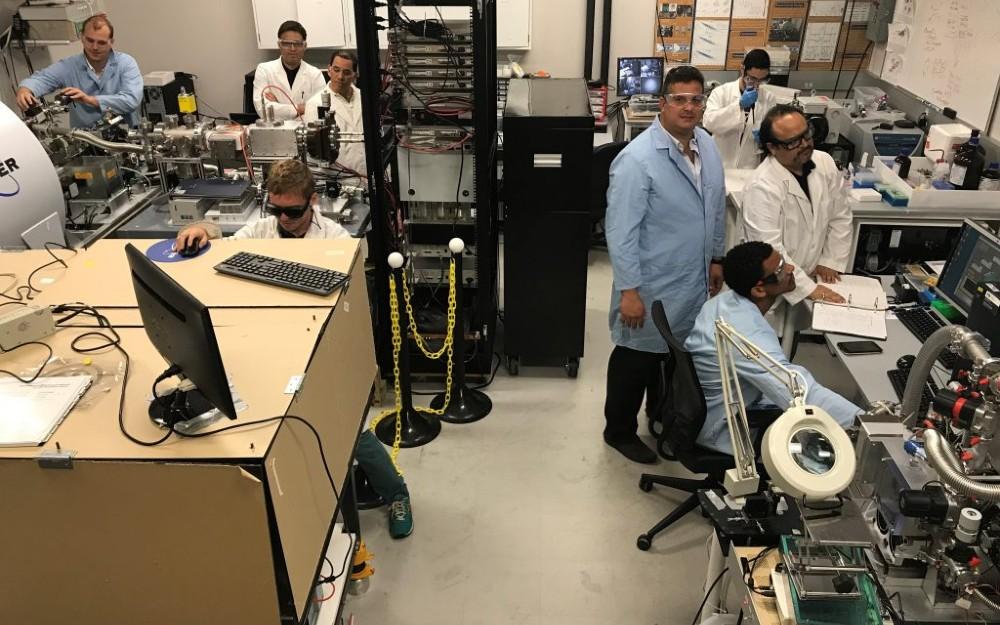 Dr. Francisco Fernandez-Lima in the lab.