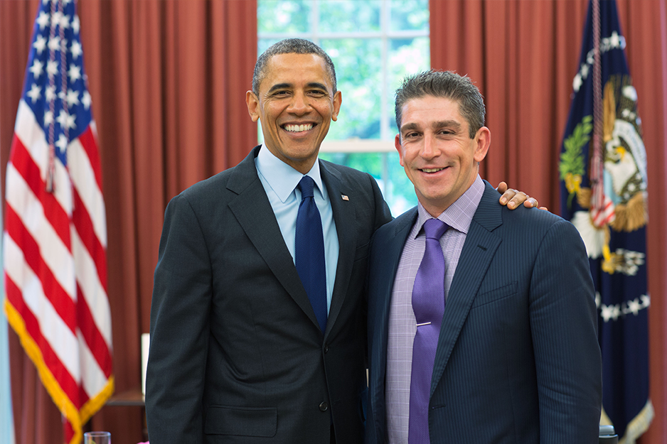 President Obama and Richard Blanco