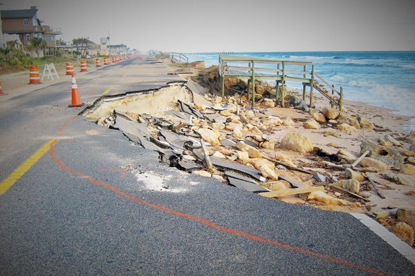 Protecting properties from storm surge