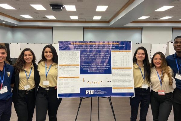 Kinesiology students present their findings on physical education