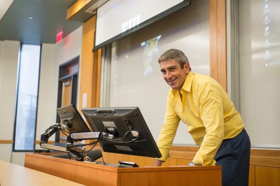 Richard Blanco in the classroom