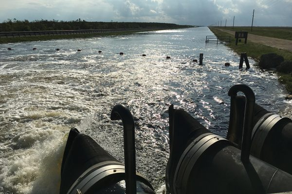 Water being pumped into the Tamiami Canal and then into the Everglades a week after Hurricane Irma