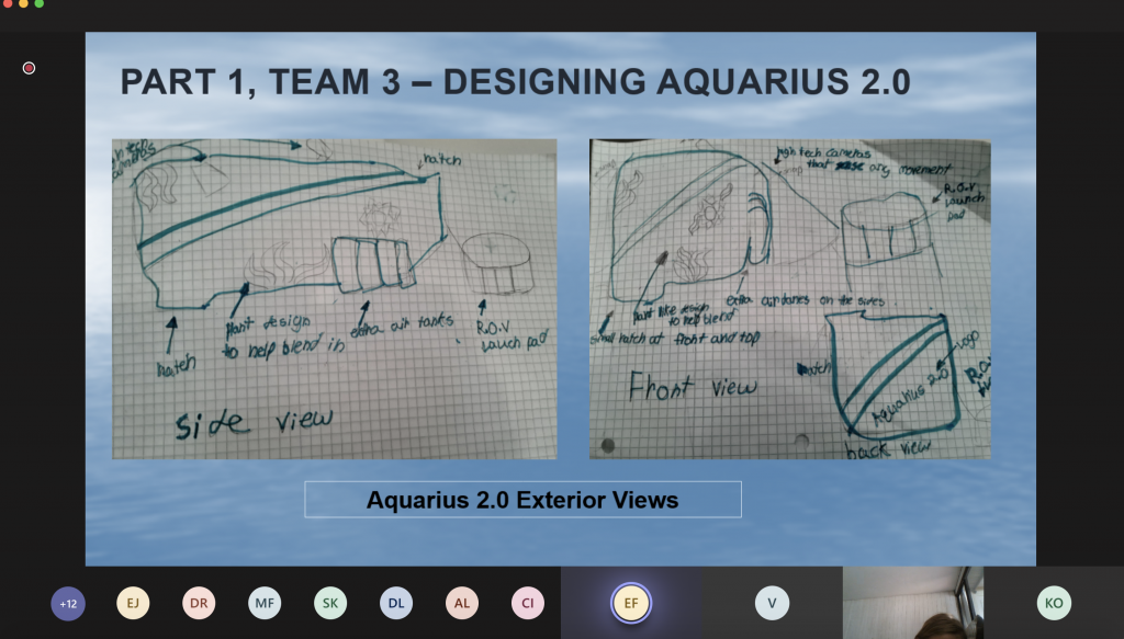 Powerpoint presentation of Aquarius Challenge  Part 1, Team 3 - Designing Aquarius 2.0