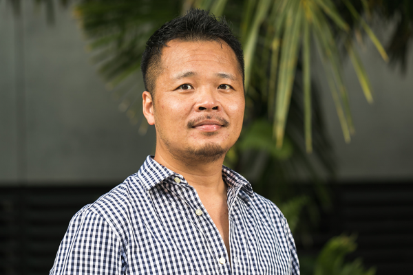 Physics professor Lei Guo wants to know how the world works