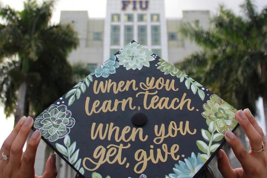 fiu education grad cap