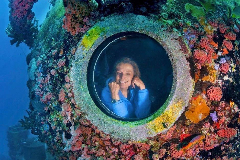 Sylvia Earle at Aquarius Reef Base.