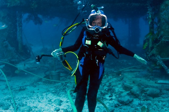Sylvia Earle at Aquarius during 2012's Mission Aquarius