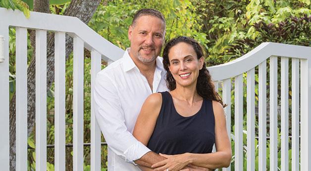 Christina Ceballos-Levy with her husband.