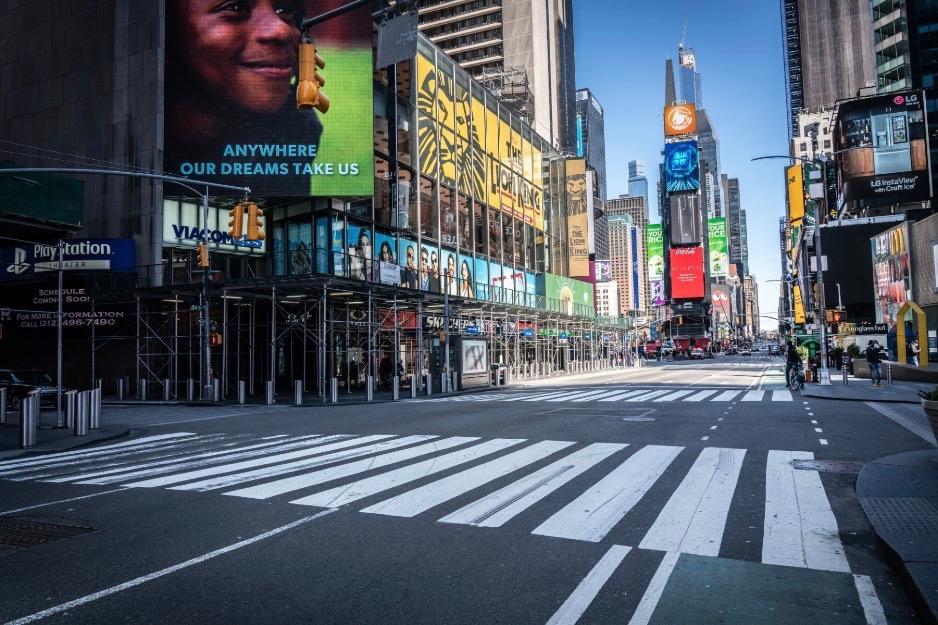 Empty NYC streets