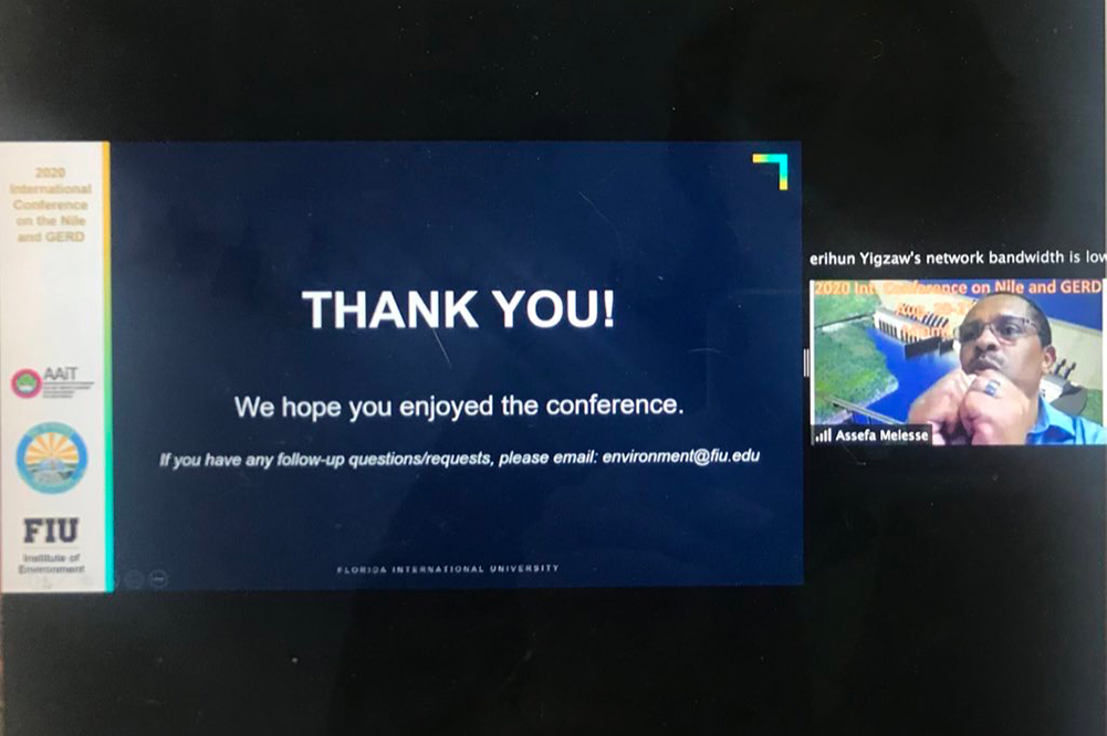 """Zoom slide reads """"Thank you! We hope you enjoyed the conference."""""""