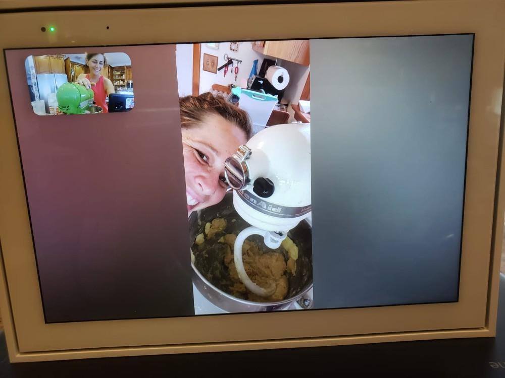 Romi teaching a class through Zoom