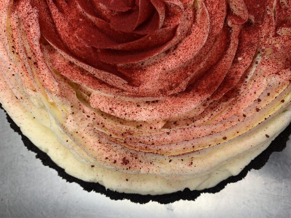 Pink rose pie