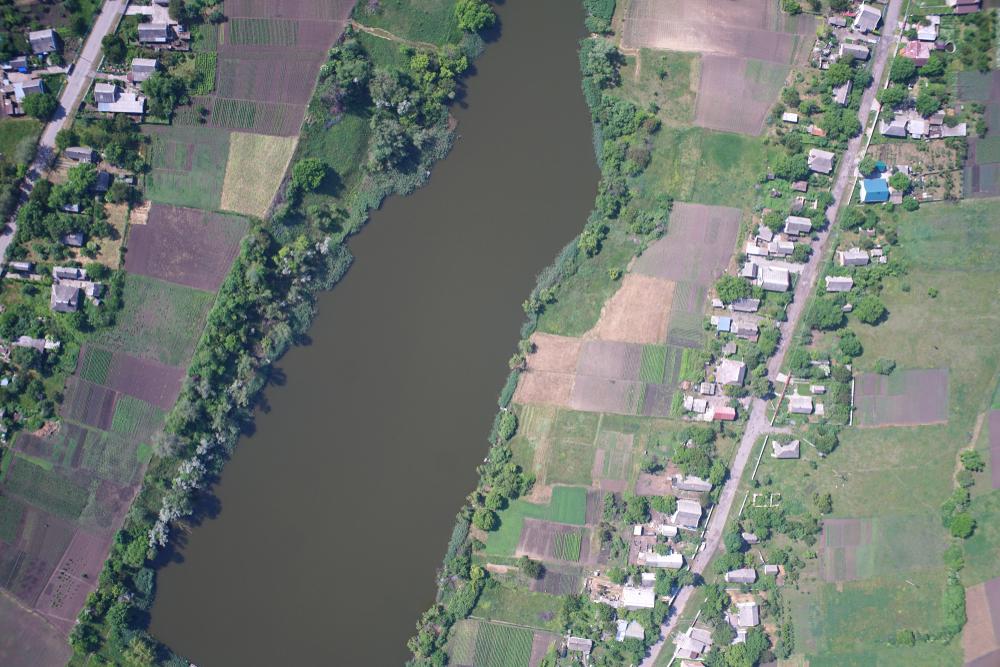 river coastline observation frome drone. drone monitor