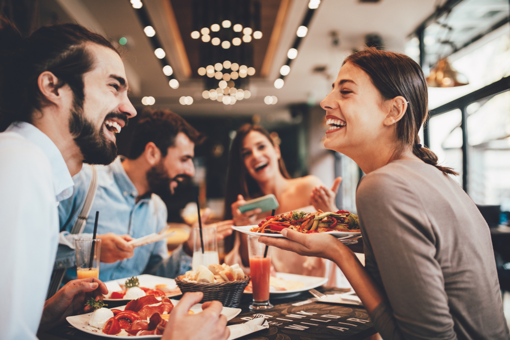 Friends at a restaurant