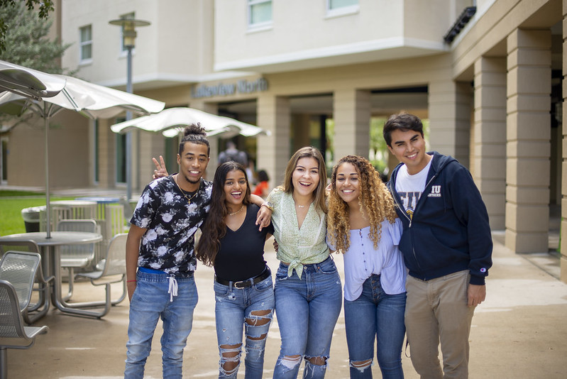 Diverse group of FIU Students