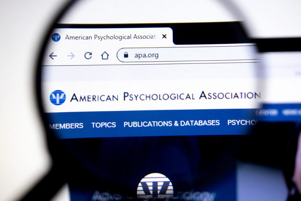american psychological association web view