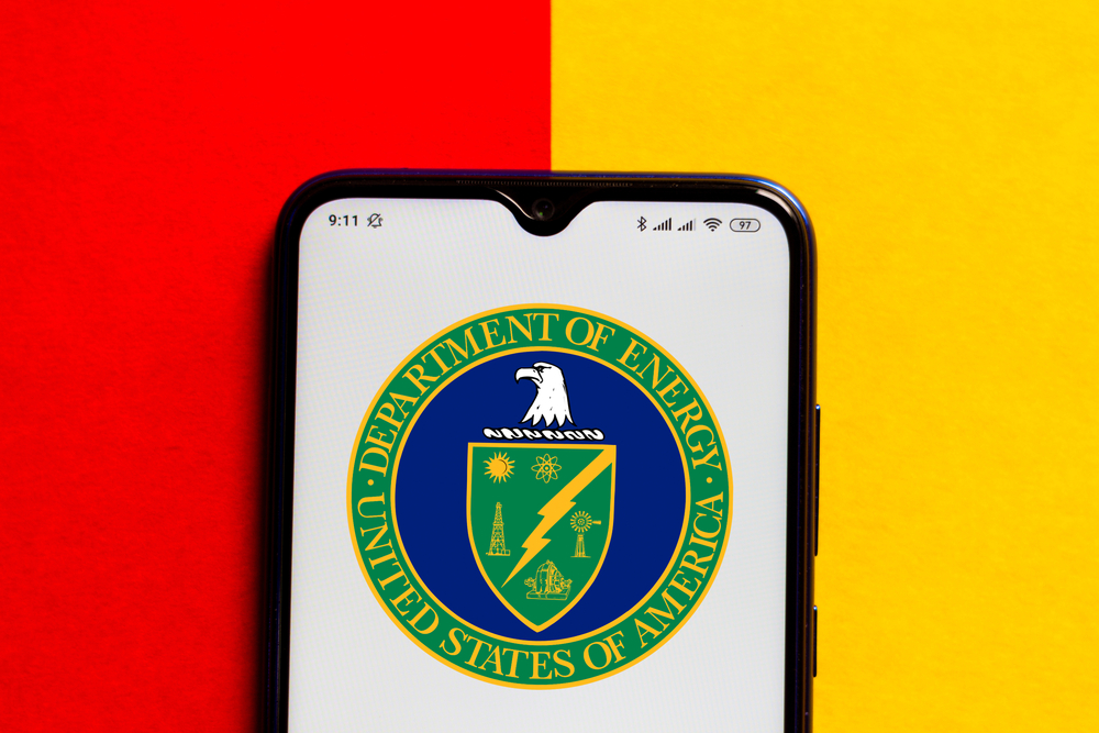Department of Energy logo on mobile device