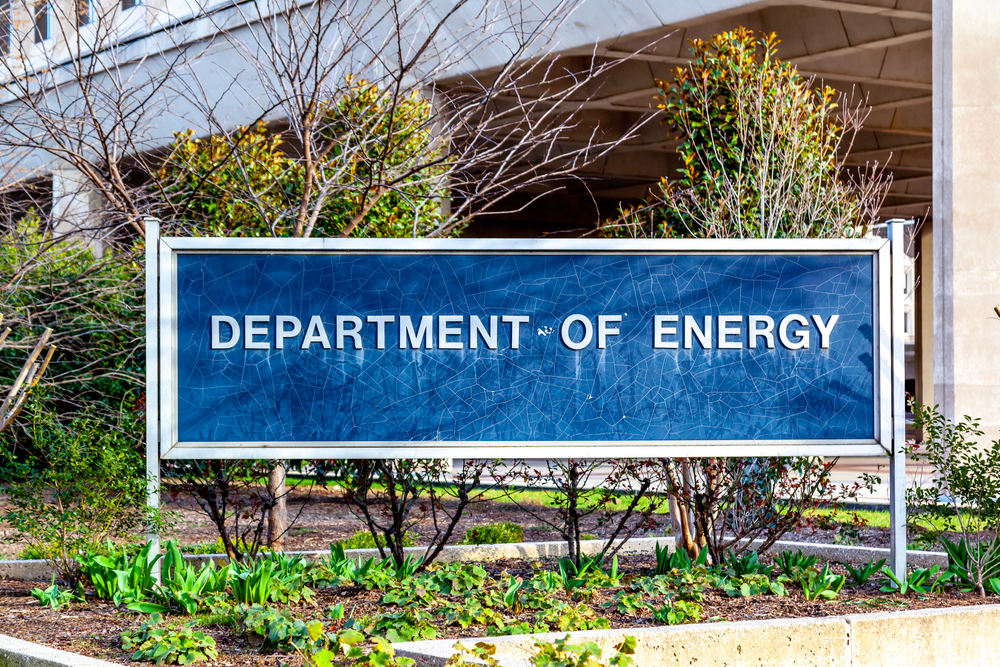 Department of Energy sign