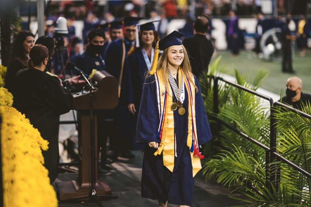 grad walking stage