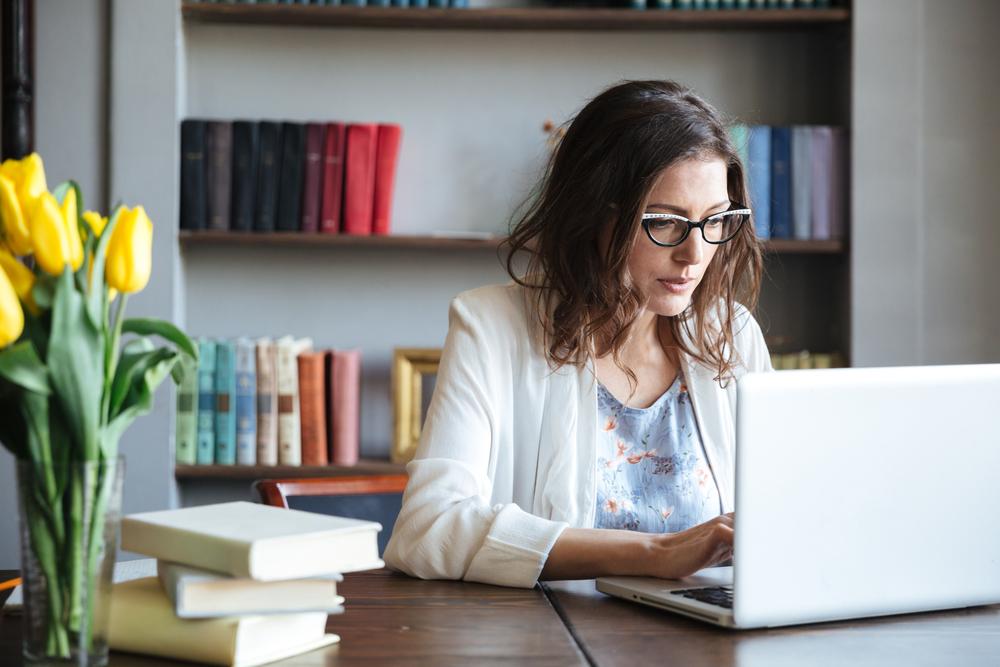 professional on laptop