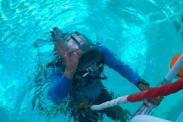 Communications training for a return to the moon takes place at Aquarius